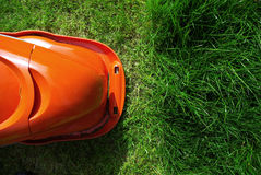 Lawn mower demarcation Royalty Free Stock Photography