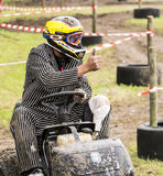 Lawn Mower Driver In Race Royalty Free Stock Photo