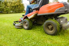 The lawn mower tractor Royalty Free Stock Photography