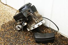Lawn Mower Engine Stock Image