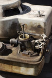 Lawn mower engine Royalty Free Stock Photography