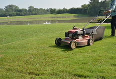 The lawn mower Stock Photography