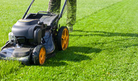 Lawn mower. Mower, grass, equipment, mowing Royalty Free Stock Image
