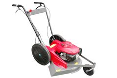 Lawn mower isolated Royalty Free Stock Photo