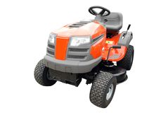 Lawn mower isolated Royalty Free Stock Images