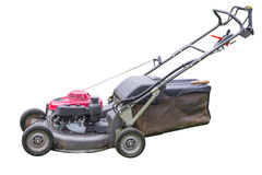 Lawn mower isolated on a white background Royalty Free Stock Images