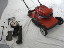 Lawn Mower Maintenance Royalty Free Stock Photography