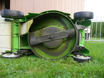 Lawn mower outdoors Royalty Free Stock Images