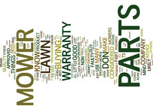 Lawn Mower Parts Word Cloud Concept Royalty Free Stock Image