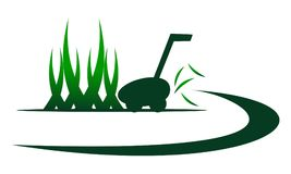 Lawn Mower Service. Logo Design Template Vector stock illustration