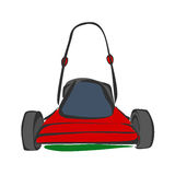 Lawn mower sketch Stock Image