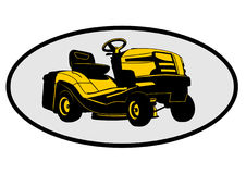 Lawn mower tractor. Illustration Royalty Free Stock Images
