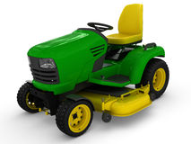 Lawn mower tractor. Rendered on white background Royalty Free Stock Photos