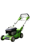 Lawn mower on white Stock Image