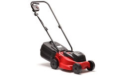 Lawn mower on white background Royalty Free Stock Photo