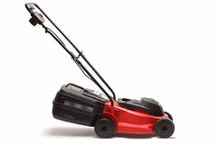 Lawn mower on white background Stock Photography