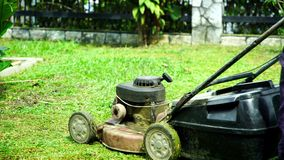Mowing stock footage