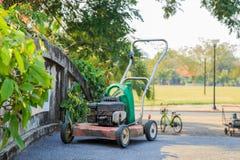 Lawn mowers Stock Photo