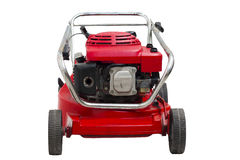 Lawn mowers red. Wiht isolated Stock Image