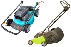 Lawn-mowers. Under the white background Stock Images