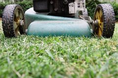 Lawn mowing. Royalty Free Stock Images