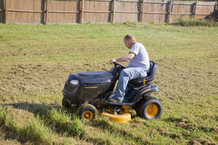 Lawn mowing Stock Photo