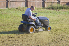 Lawn mowing stock photos