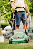 Lawn mowing Royalty Free Stock Photos