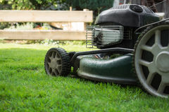 The lawn is mown Stock Photos