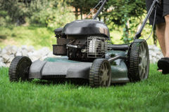 The lawn is mown Stock Photo