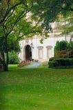 Lawn near castle Royalty Free Stock Photo