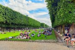 Lawn near Luxemburg palace. Royalty Free Stock Photo