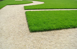 Lawn and path Royalty Free Stock Photos