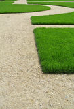 Lawn and path Royalty Free Stock Image