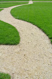 Lawn and path Stock Image
