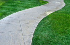 Lawn and pathway Royalty Free Stock Photos