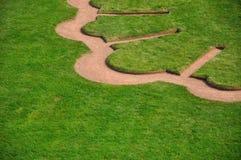 Lawn pattern. In Dresden Zwinger Stock Image