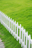 Lawn and railing Royalty Free Stock Images