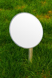 Lawn round symbol mock up - blank space for your sign stock image