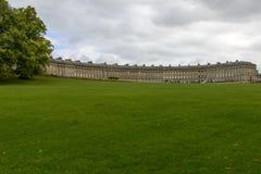 Lawn at the Royal crescent, Bath Royalty Free Stock Photo