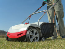Lawn scarifying Royalty Free Stock Photos