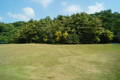 Lawn scenery Stock Photo