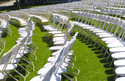 Lawn seating Stock Photo