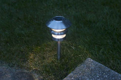 Lawn Solar Light Stock Image