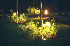 Lawn Spotlight Illumination royalty free stock photography