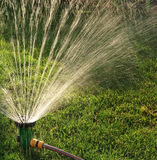 Lawn sprinkler Royalty Free Stock Photos
