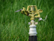 Lawn sprinkler. A new lawn sprinkler in the grass Royalty Free Stock Photo