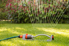 Lawn sprinkler Royalty Free Stock Photography