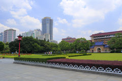 Lawn and square of sun yat-sen ( zhongshan ) memorial hall in guangzhou, china Stock Photos