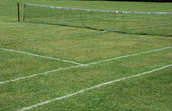 Lawn tennis. A lawn or grass tennis court Stock Photos
